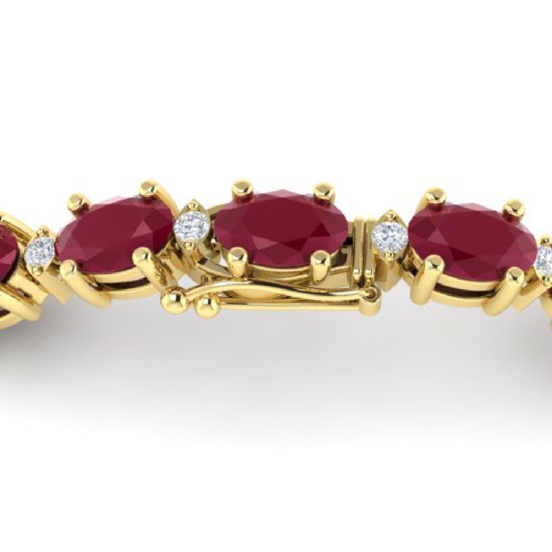 15 CTW Ruby & VS/SI Diamond Eternity Bracelet 10K