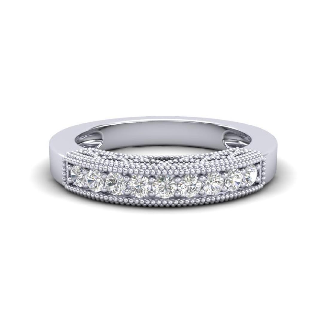 0.33 CTW VS/SI Diamond Band Love Me Art Deco Ring 18K