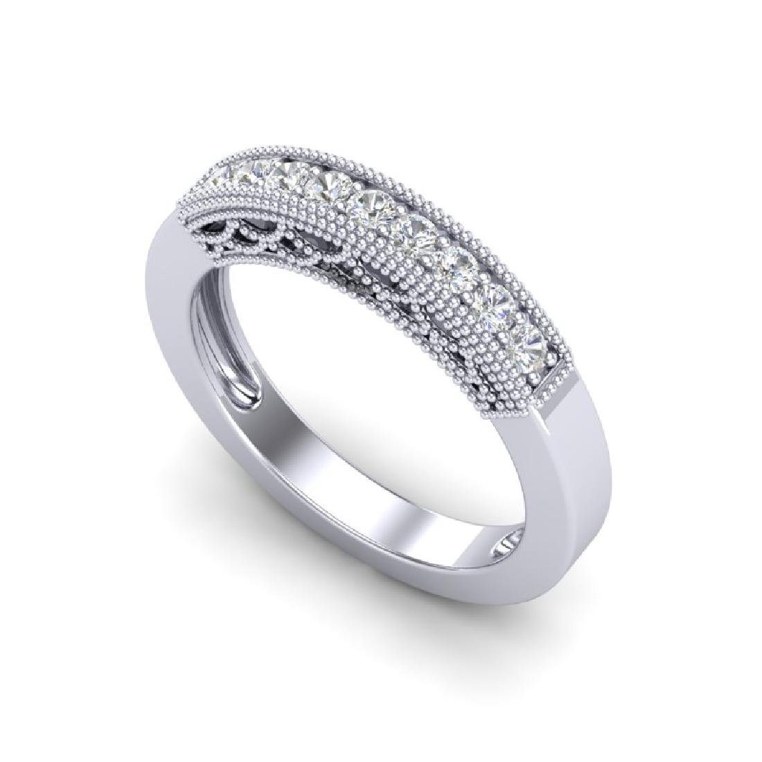 0.33 CTW VS/SI Diamond Band Love Me Art Deco Ring 18K - 2