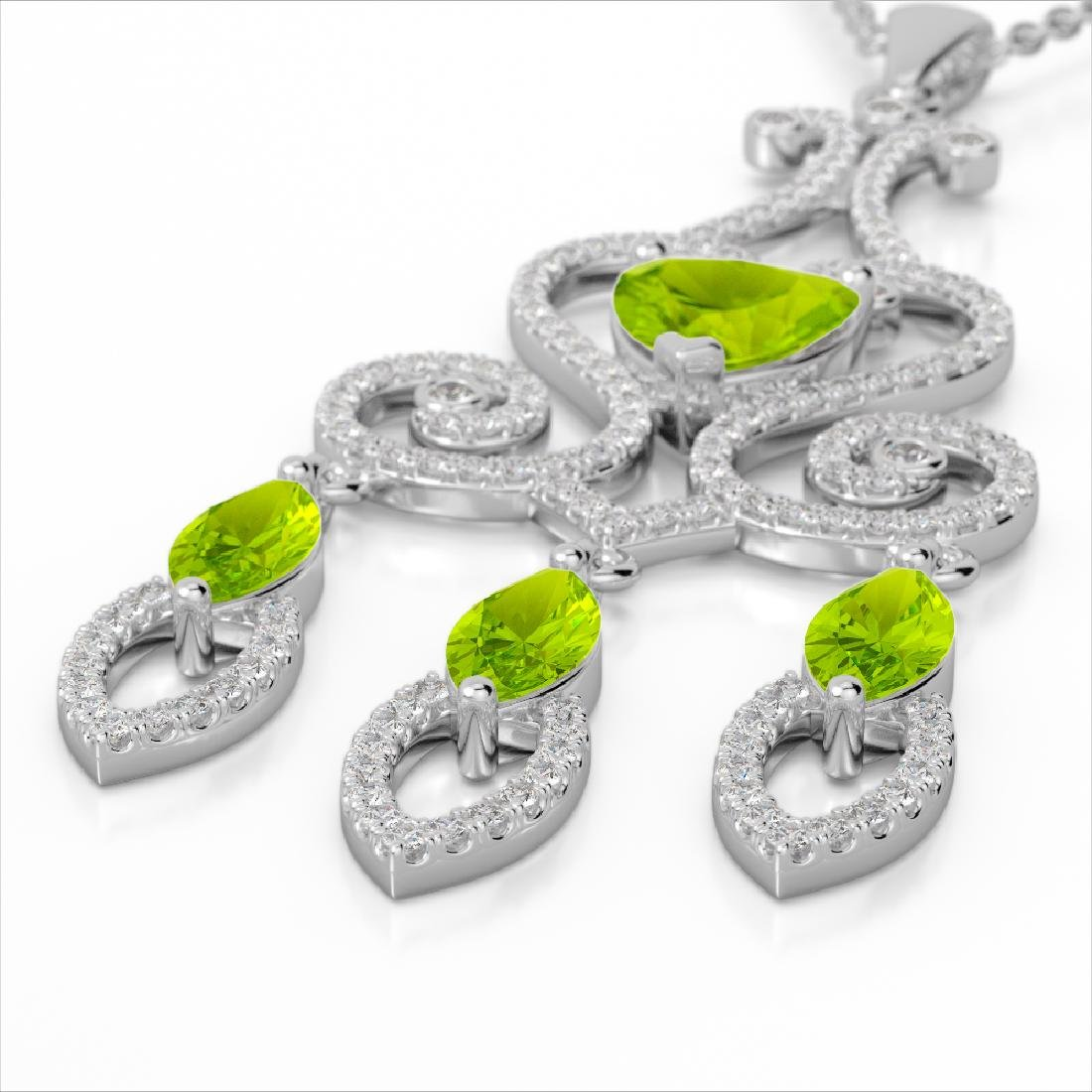 5.50 CTW Peridot & Micro Pave VS/SI Diamond Heart