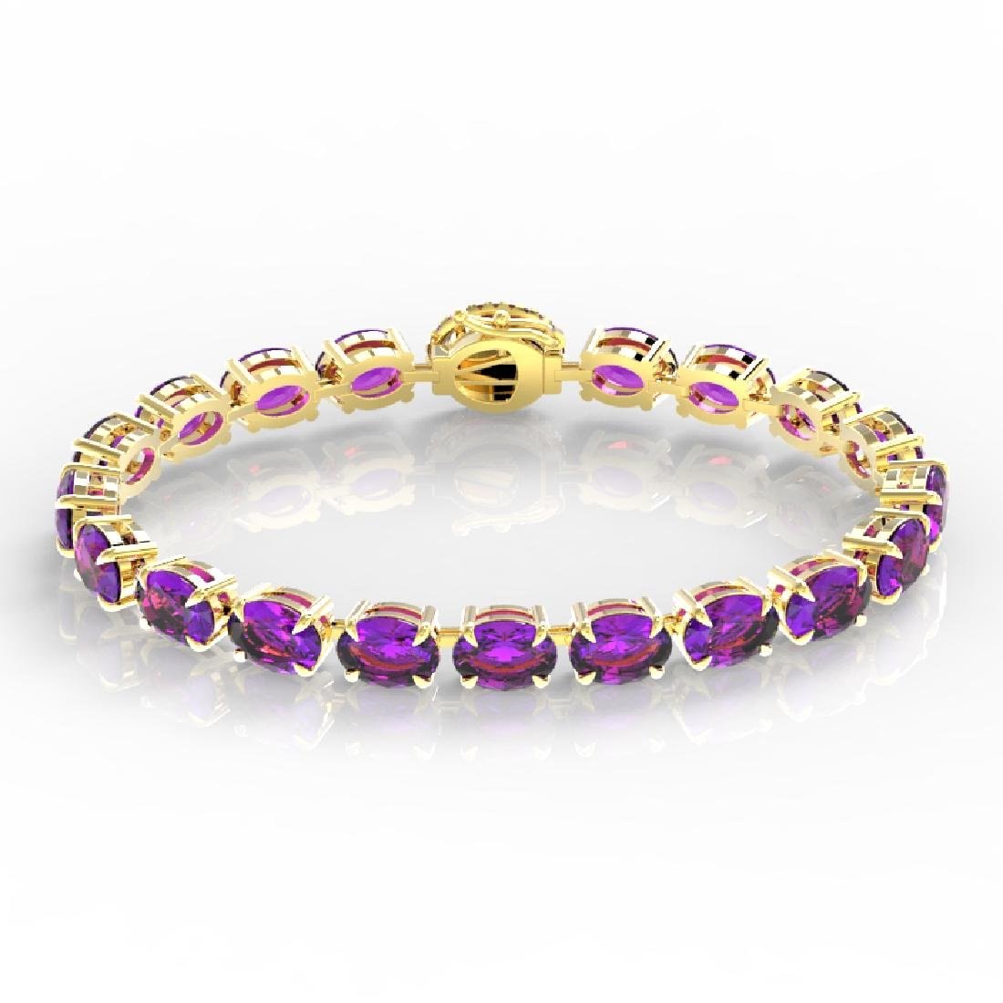 29 CTW Amethyst & VS/SI Diamond Tennis Micro Pave Halo - 2