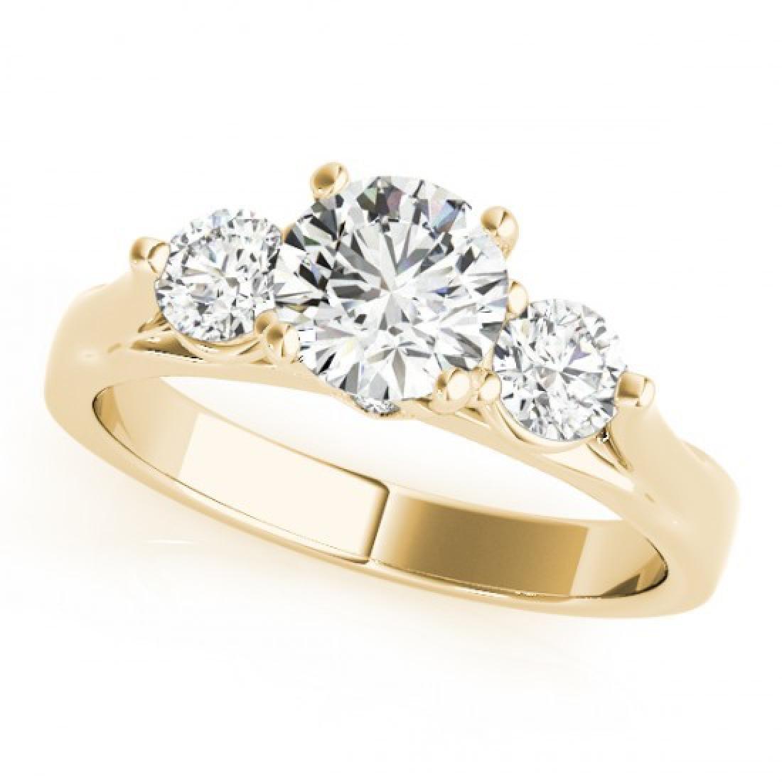 1.25 CTW Certified VS/SI Diamond 3 Stone Ring 14K