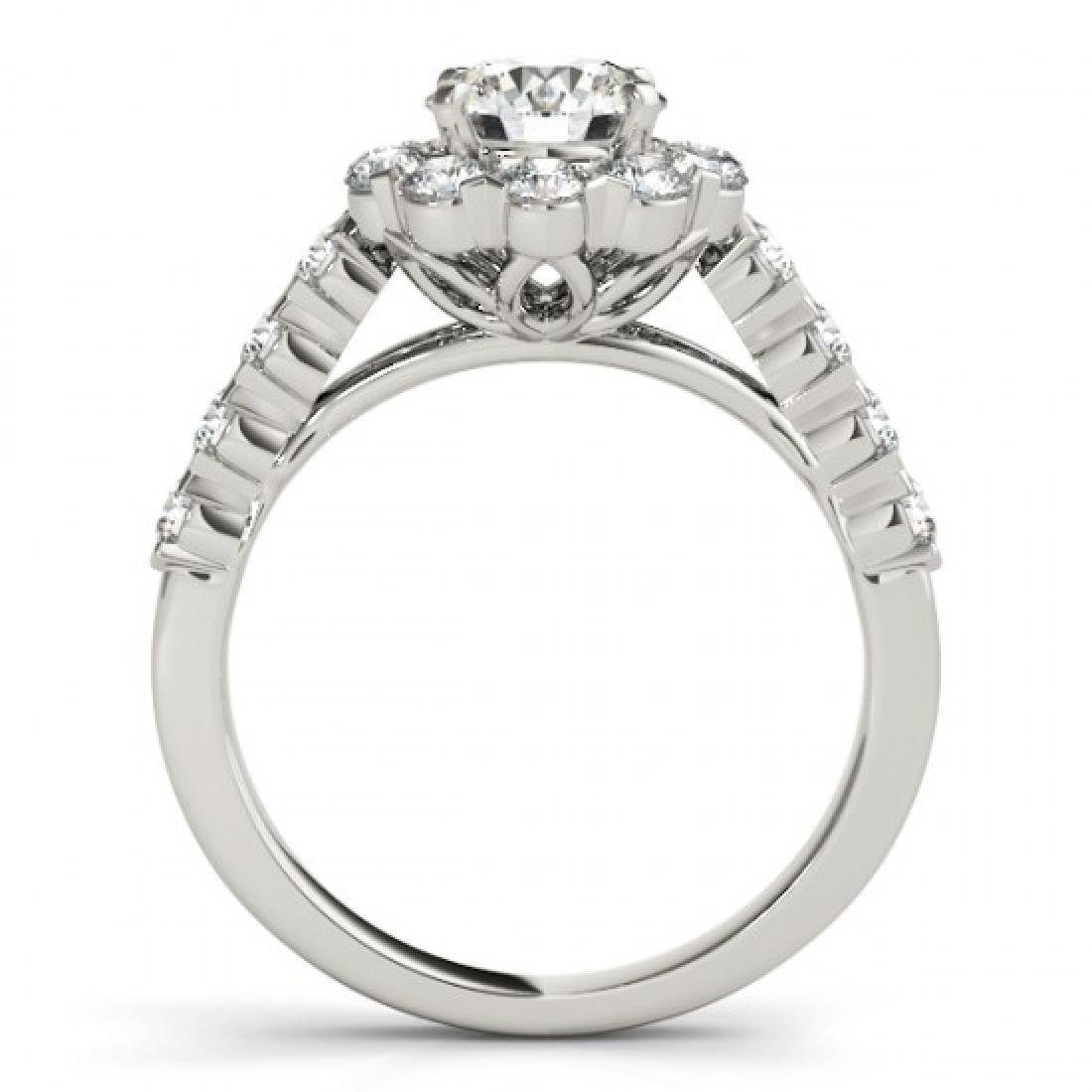 3 CTW Certified VS/SI Diamond Solitaire Halo Ring 14K - 2