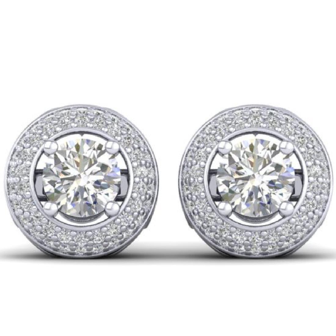 1.75 CTW Certified VS/SI Diamond Art Deco Micro Halo