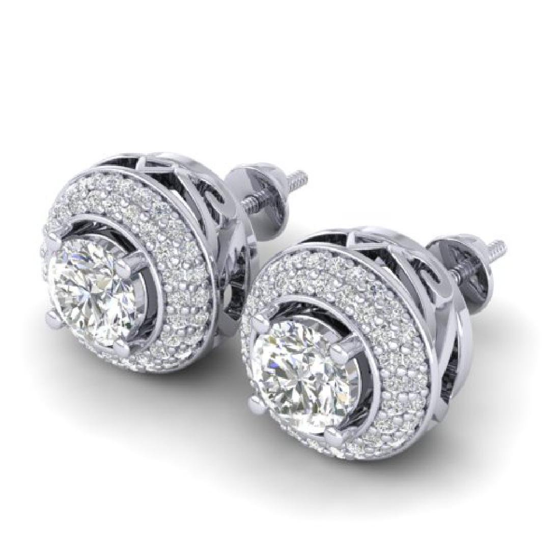 1.75 CTW Certified VS/SI Diamond Art Deco Micro Halo - 2