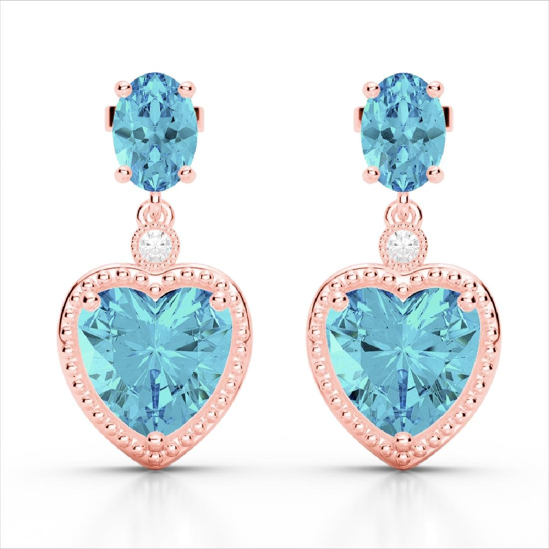 8 CTW Sky Blue Topaz & VS/SI Diamond Designer Heart