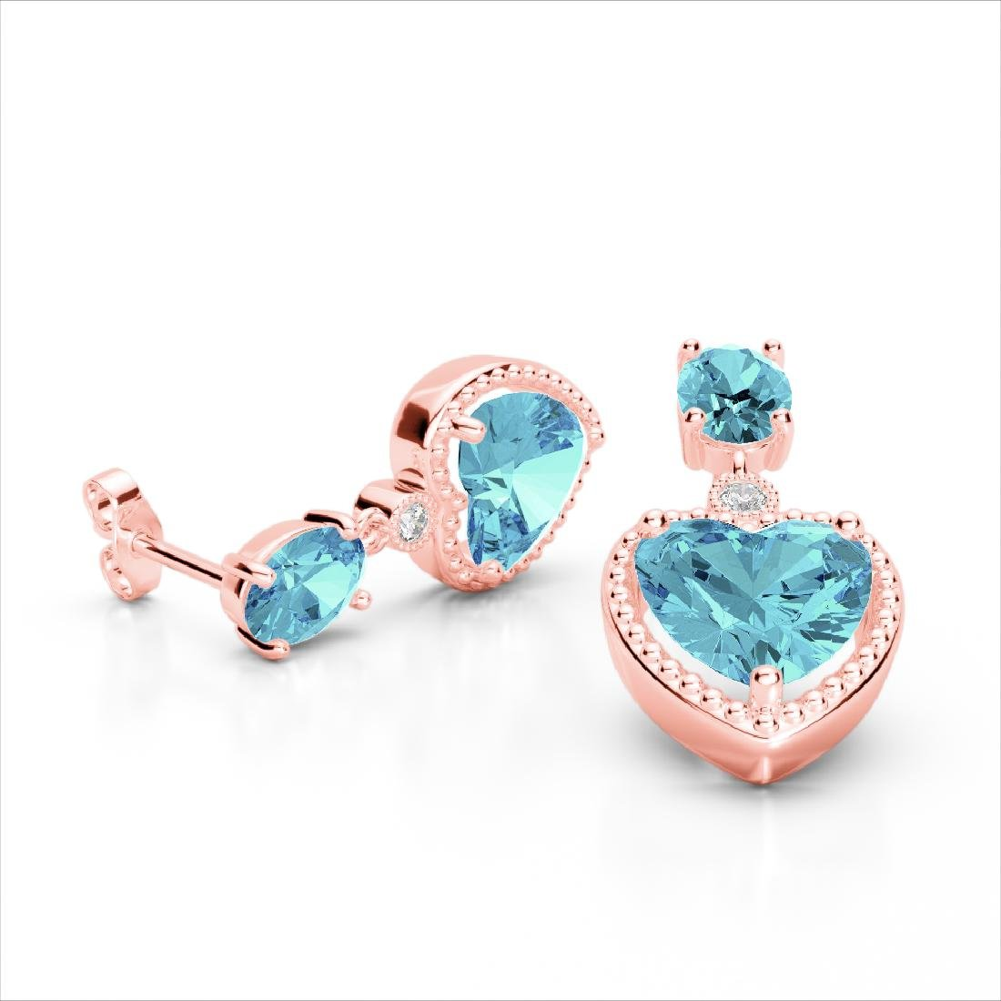 8 CTW Sky Blue Topaz & VS/SI Diamond Designer Heart - 2