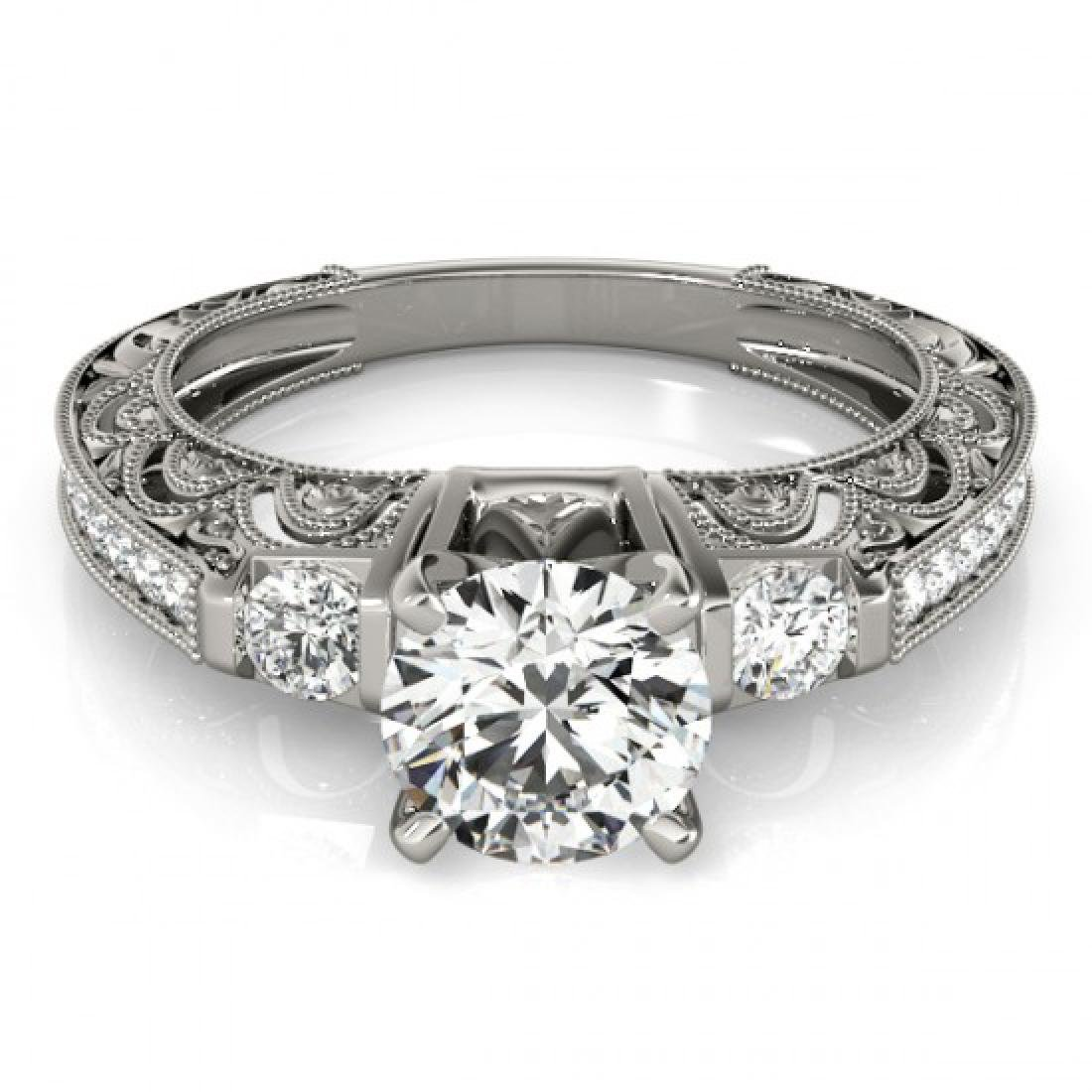 0.91 CTW Certified VS/SI Diamond Solitaire Antique Ring