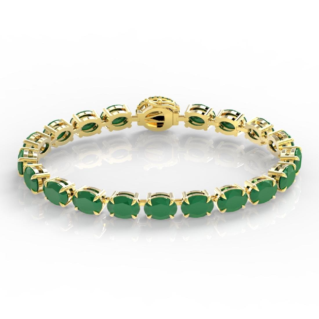 23.25 CTW Emerald & VS/SI Diamond Tennis Micro Pave - 2