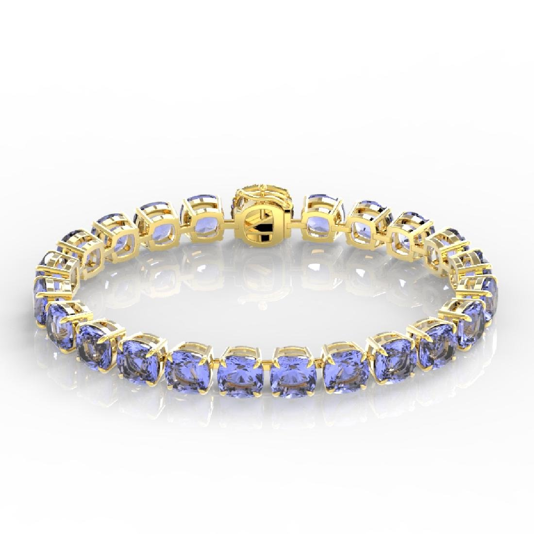 40 CTW Tanzanite & Micro VS/SI Diamond Halo Designer - 2