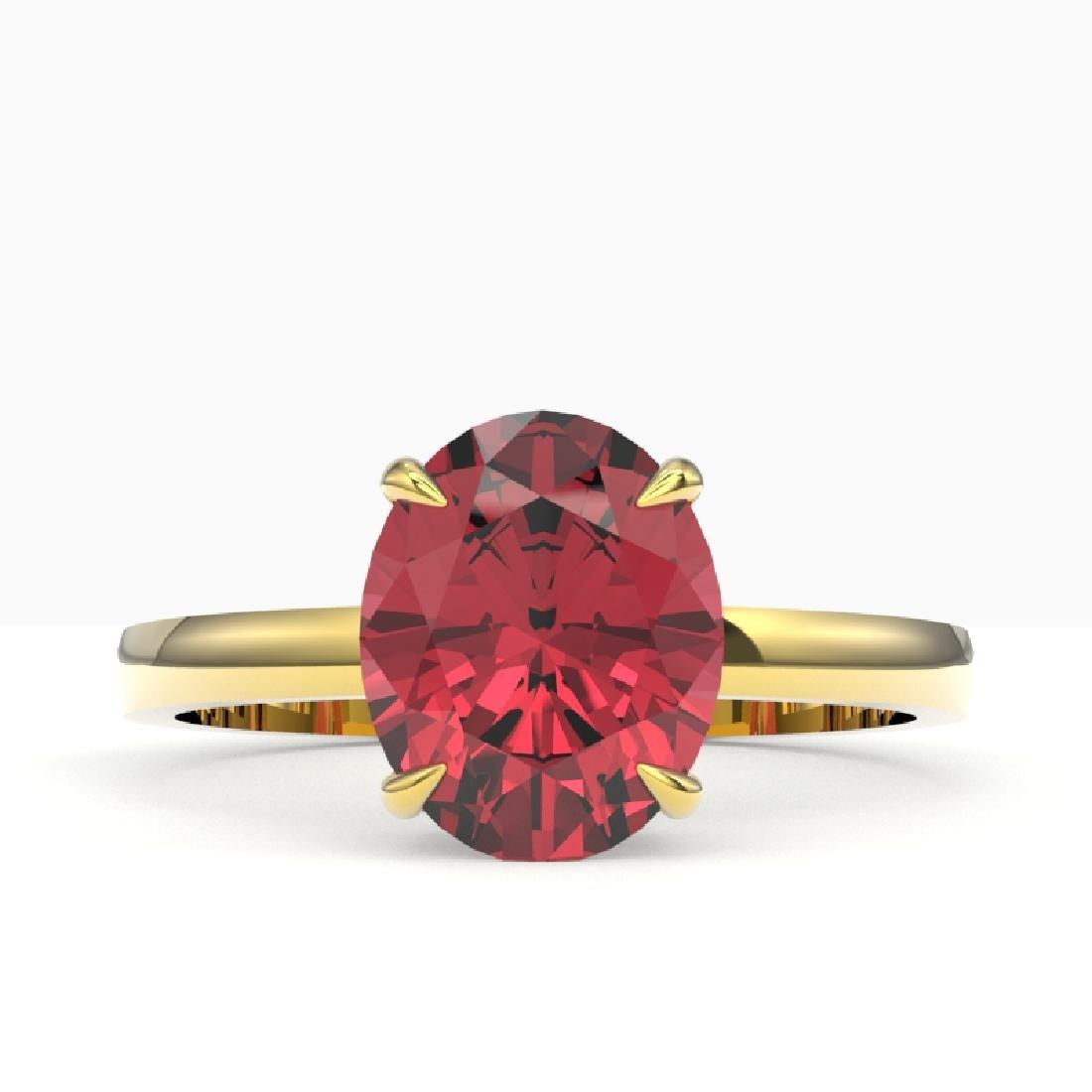 3 CTW Pink Tourmaline Designer Inspired Solitaire Ring