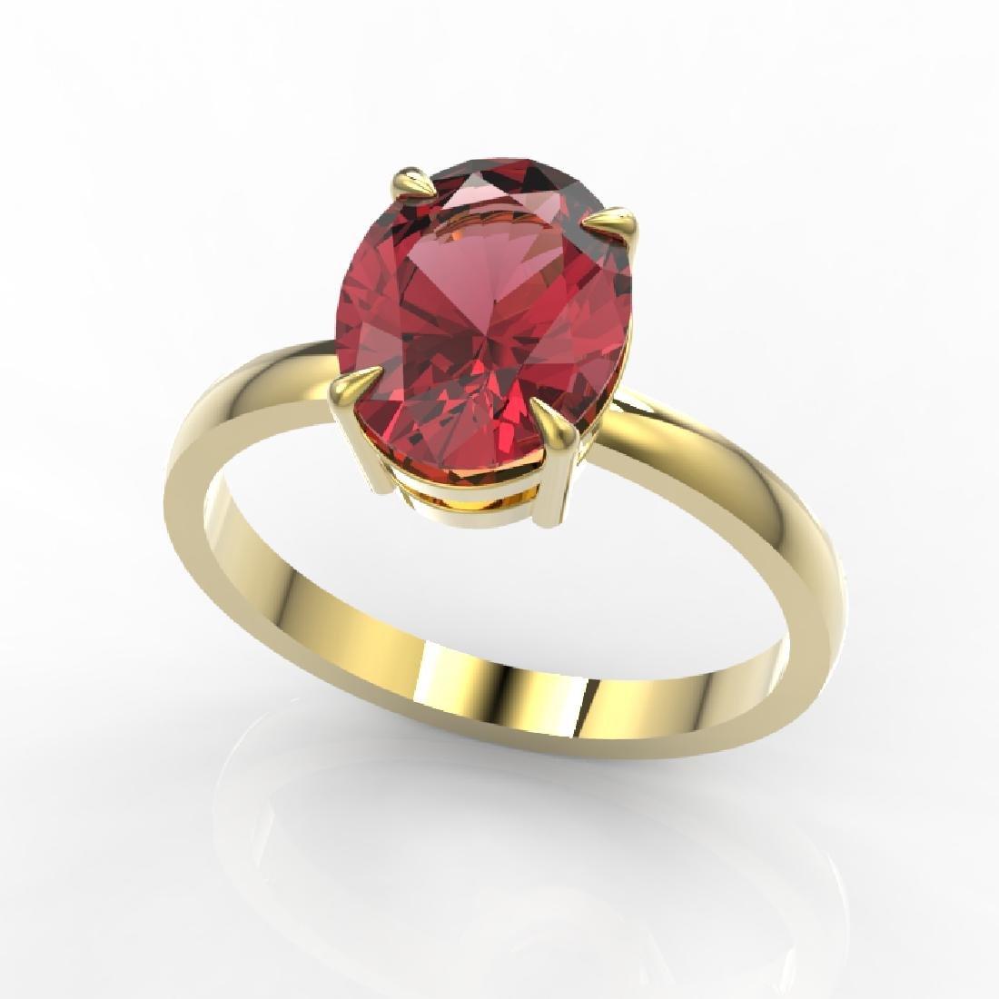 3 CTW Pink Tourmaline Designer Inspired Solitaire Ring - 2