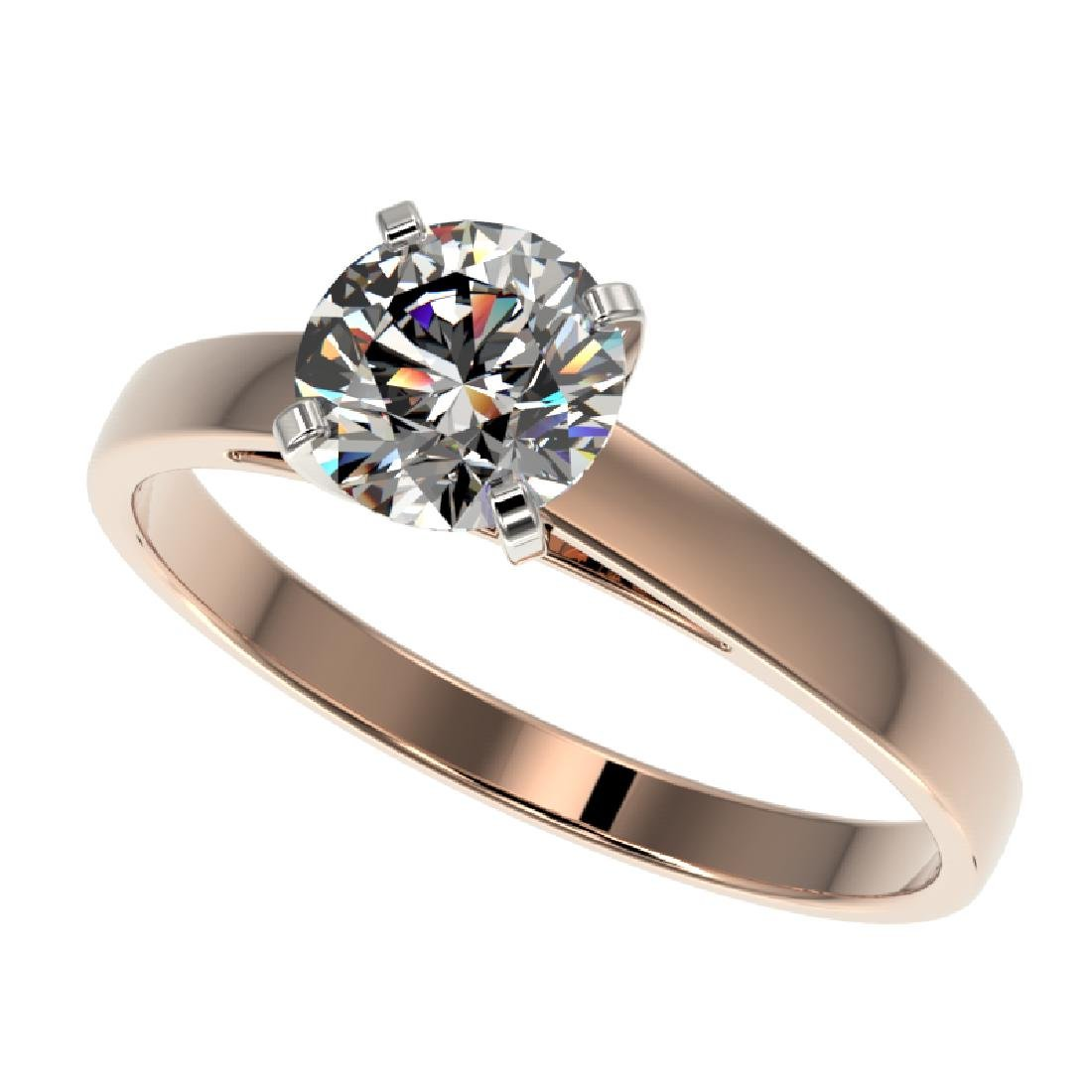 0.97 CTW Certified H-SI/I Quality Diamond Solitaire