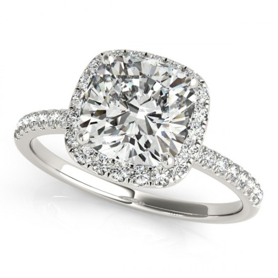 0.75 CTW Certified VS/SI Cushion Diamond Solitaire Halo