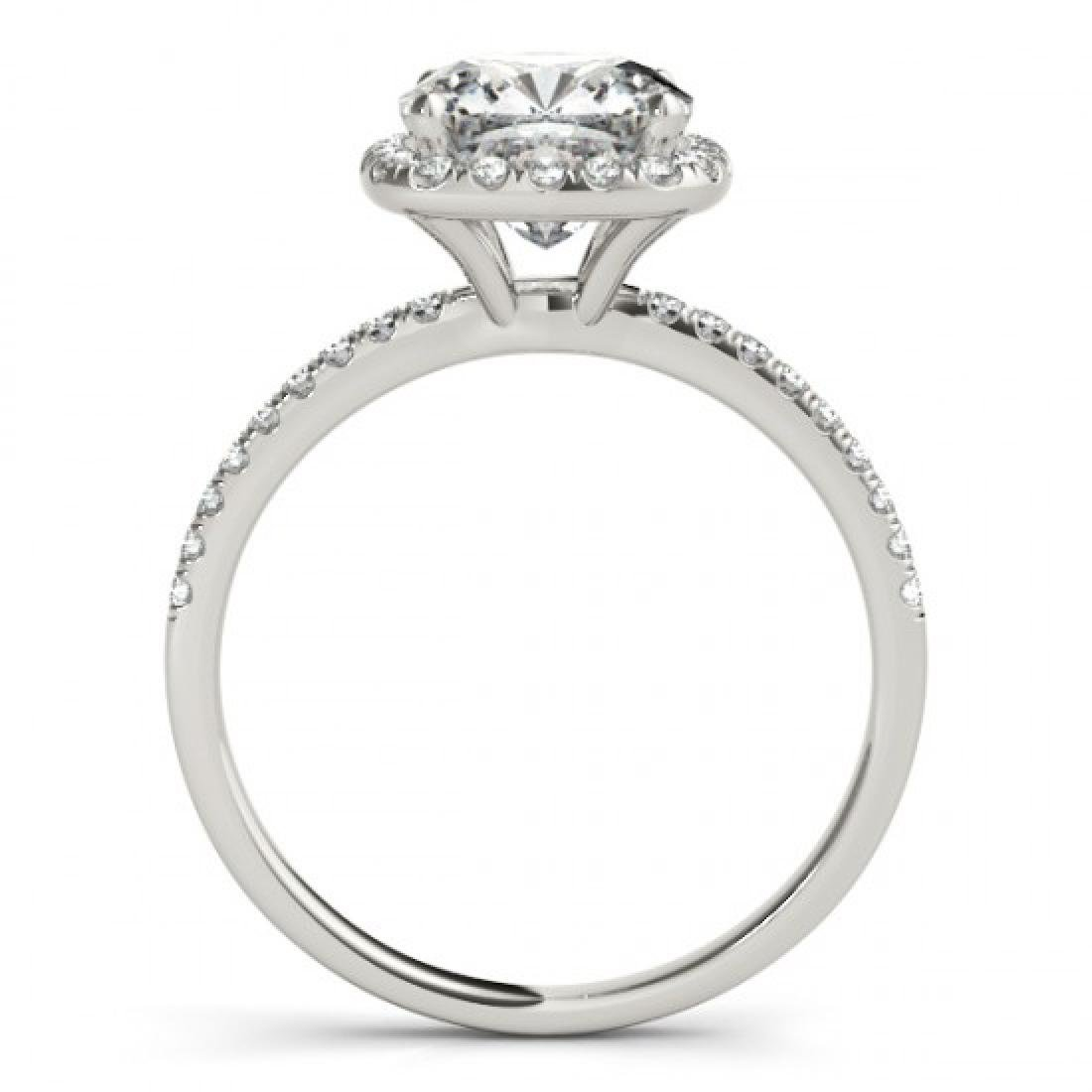 0.75 CTW Certified VS/SI Cushion Diamond Solitaire Halo - 2
