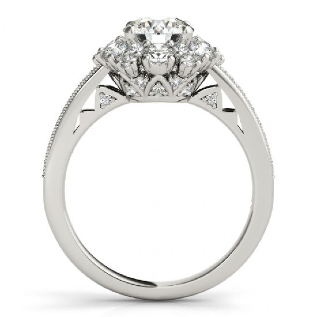 1.91 CTW Certified VS/SI Diamond Solitaire Halo Ring - 2