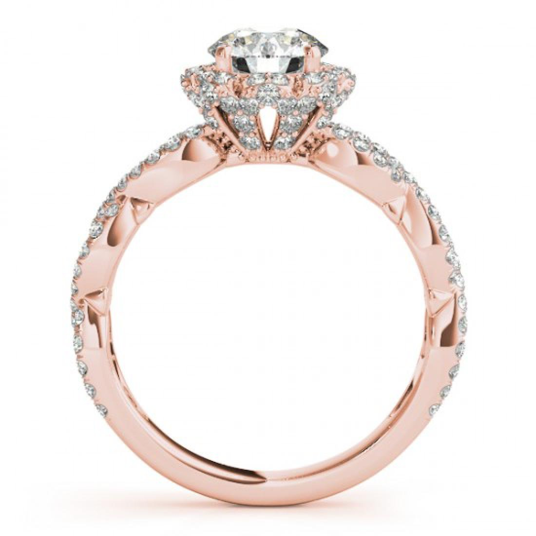 1.69 CTW Certified VS/SI Diamond Solitaire Halo Ring - 2