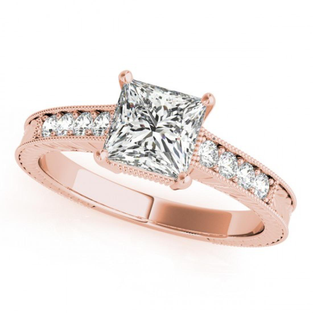 0.65 CTW Certified VS/SI Princess Diamond Solitaire