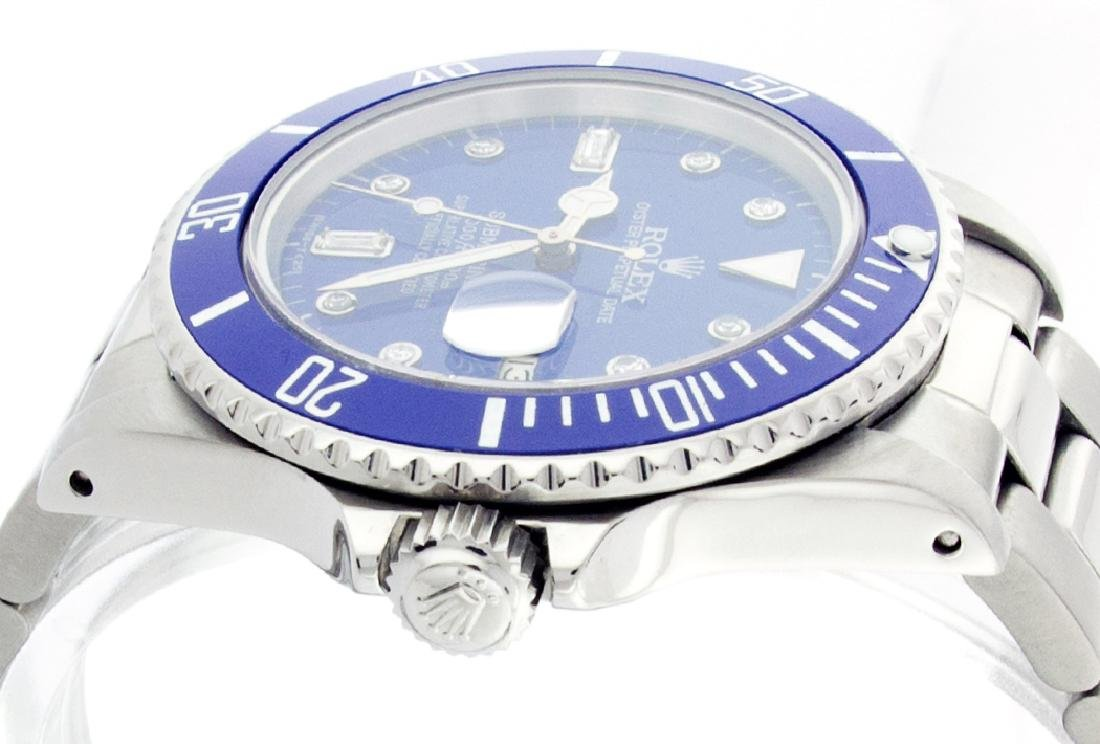 Rolex Men's Submariner, QuickSet, Diam Dial w/ - 2