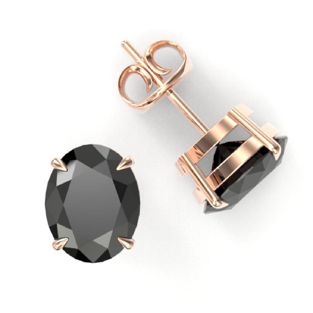 10 CTW Black VS/SI Diamond Designer Solitaire Stud - 2