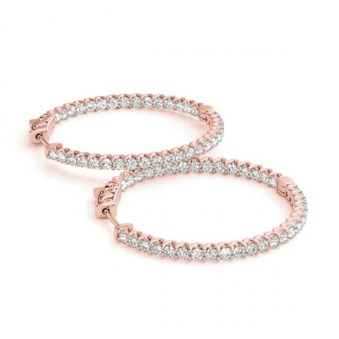 1.75 CTW Diamond VS/SI Certified 34 Mm Hoop Earrings