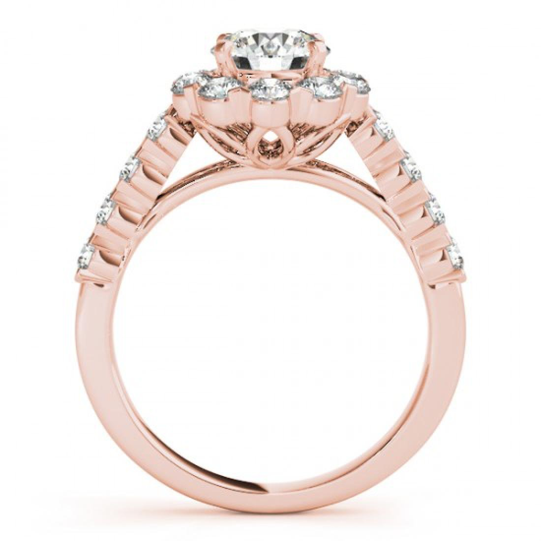 2.1 CTW Certified VS/SI Diamond Solitaire Halo Ring 14K - 2