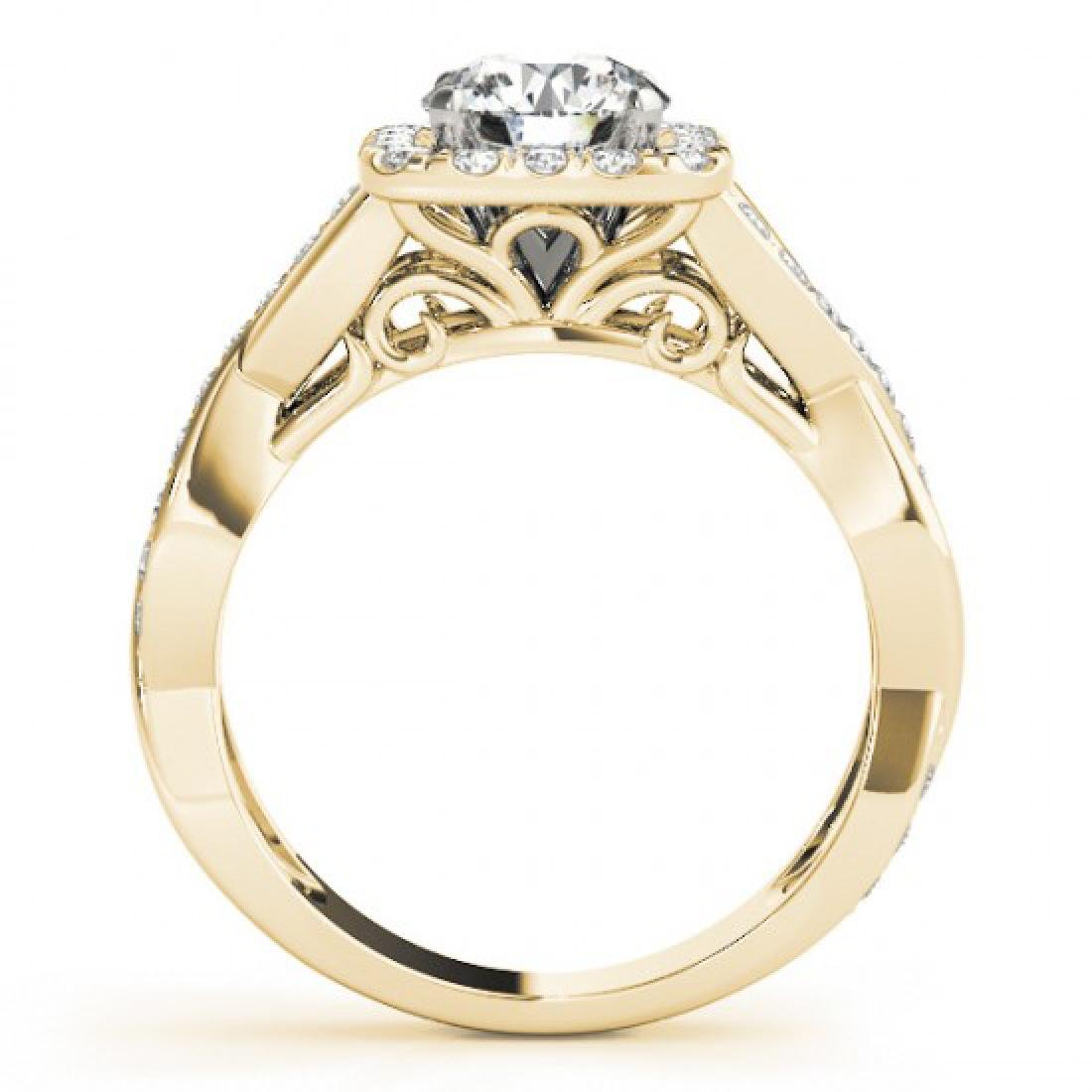 1.65 CTW Certified VS/SI Diamond Solitaire Halo Ring - 2