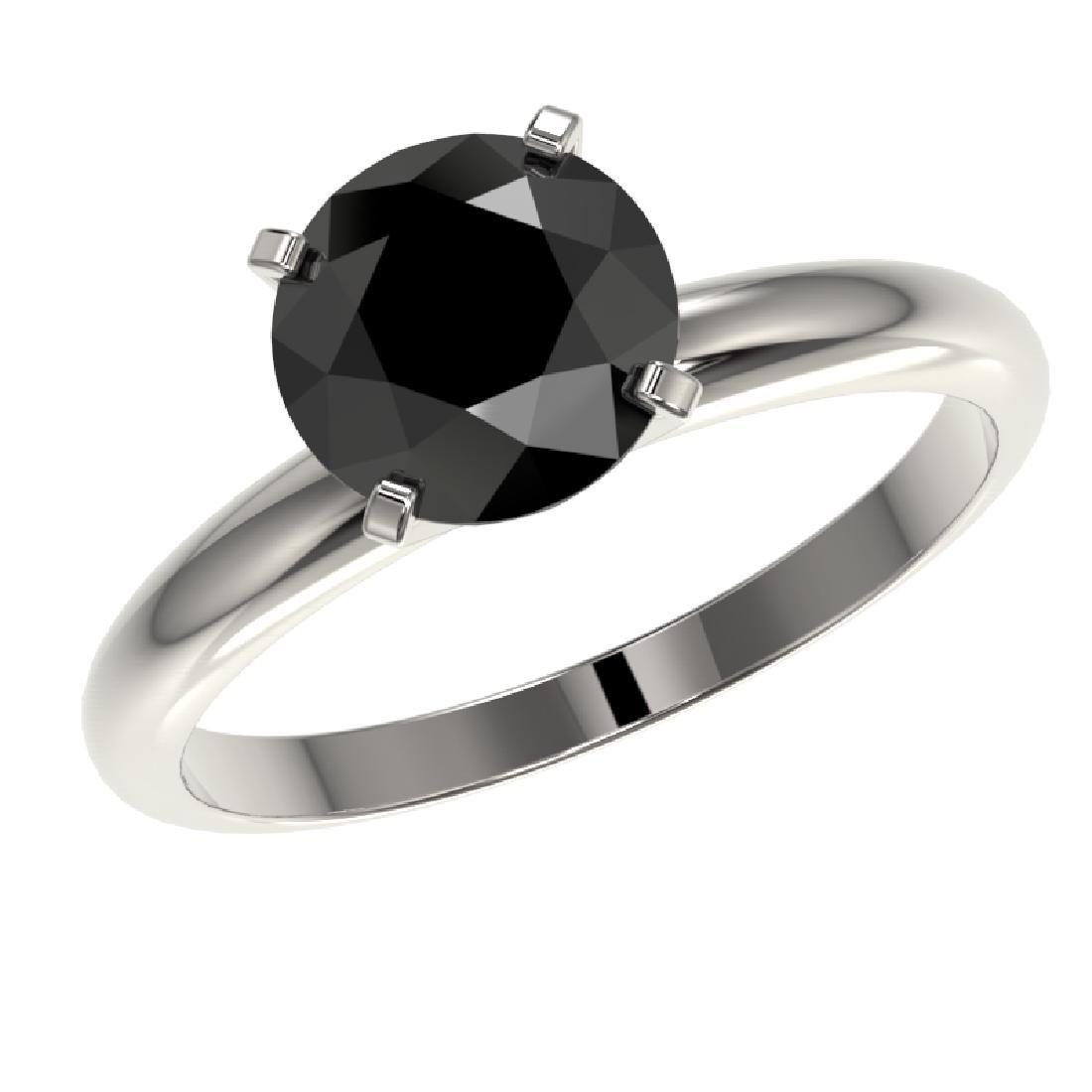 2.09 CTW Fancy Black VS Diamond Solitaire Engagement - 2