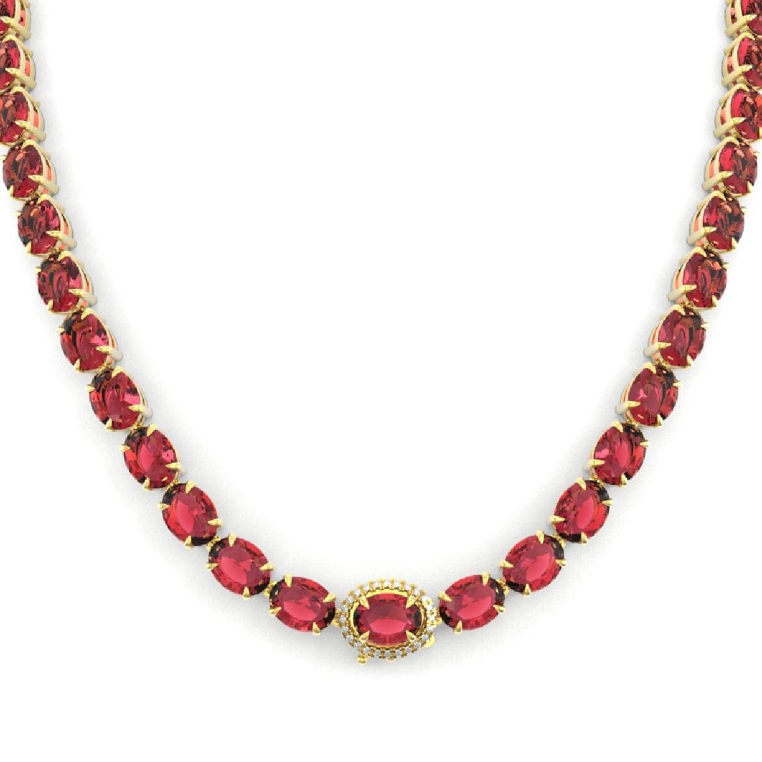 35.25 CTW Pink Tourmaline & VS/SI Diamond Micro Halo - 2