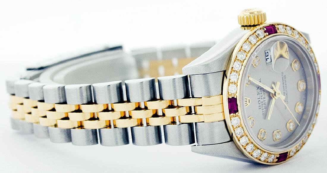Rolex Ladies Two Tone 14K Gold/SS, Diam Dial & - 2