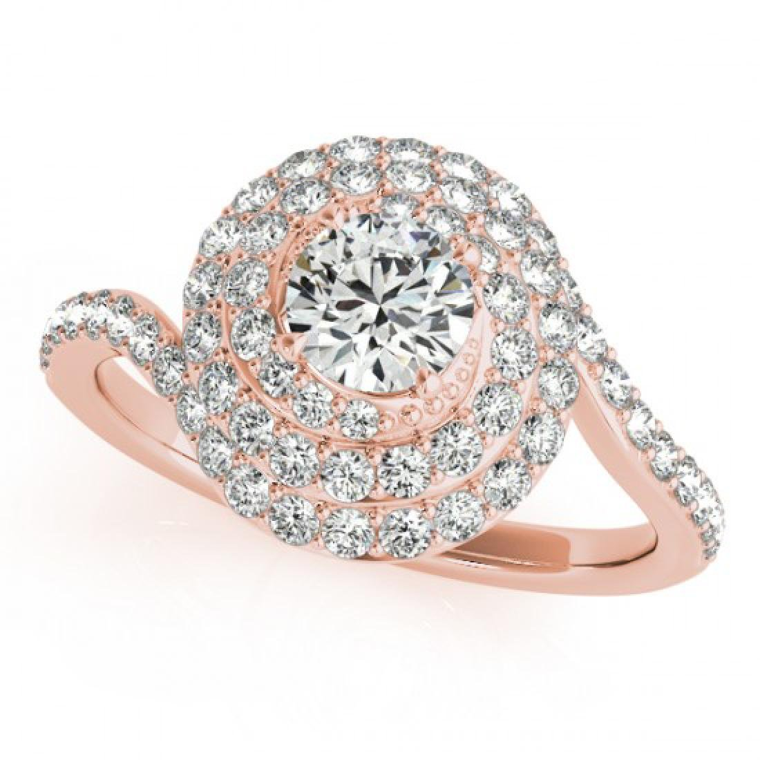 1.54 CTW Certified VS/SI Diamond Solitaire Halo Ring