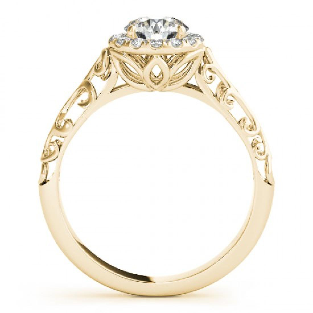 0.62 CTW Certified VS/SI Diamond Solitaire Antique Ring - 2