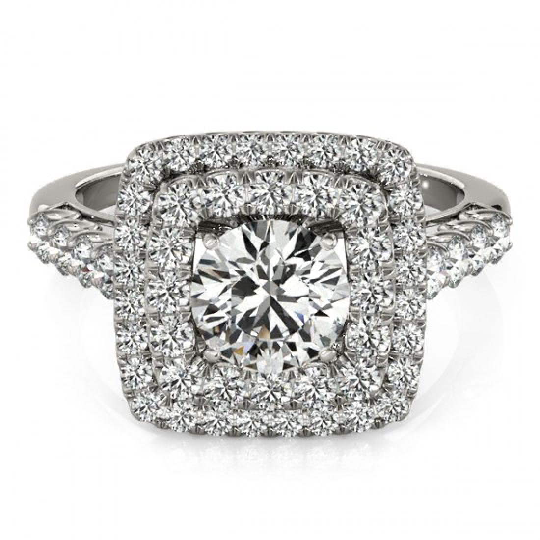 2.3 CTW Certified VS/SI Diamond Solitaire Halo Ring 14K