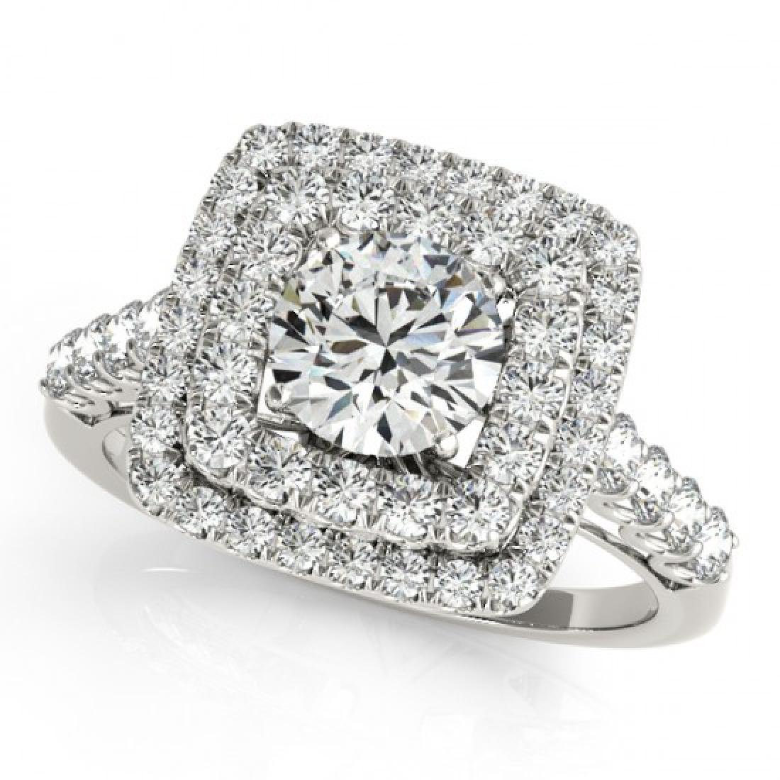 2.3 CTW Certified VS/SI Diamond Solitaire Halo Ring 14K - 2