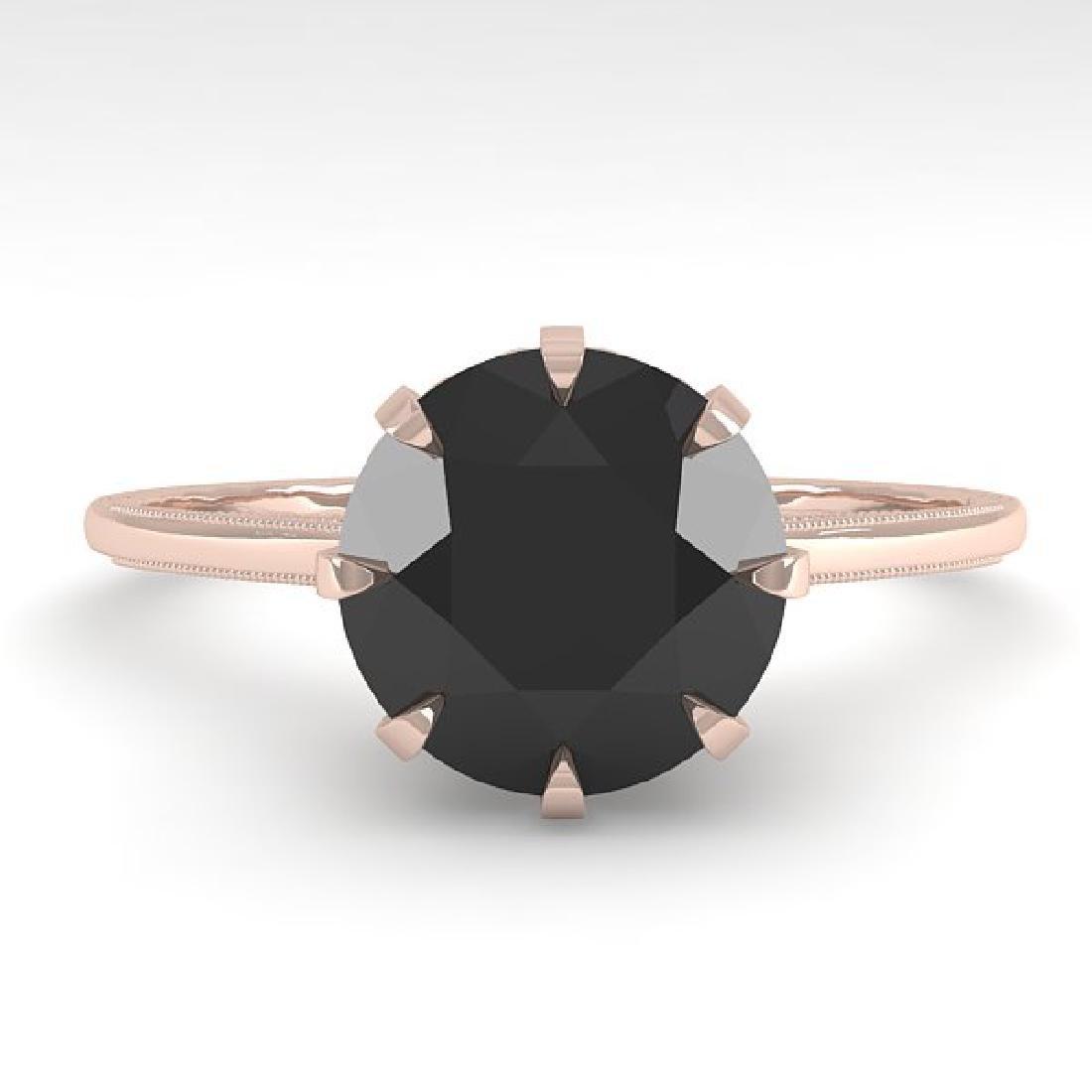 2.0 CTW Black Diamond Solitaire 14K Rose Gold