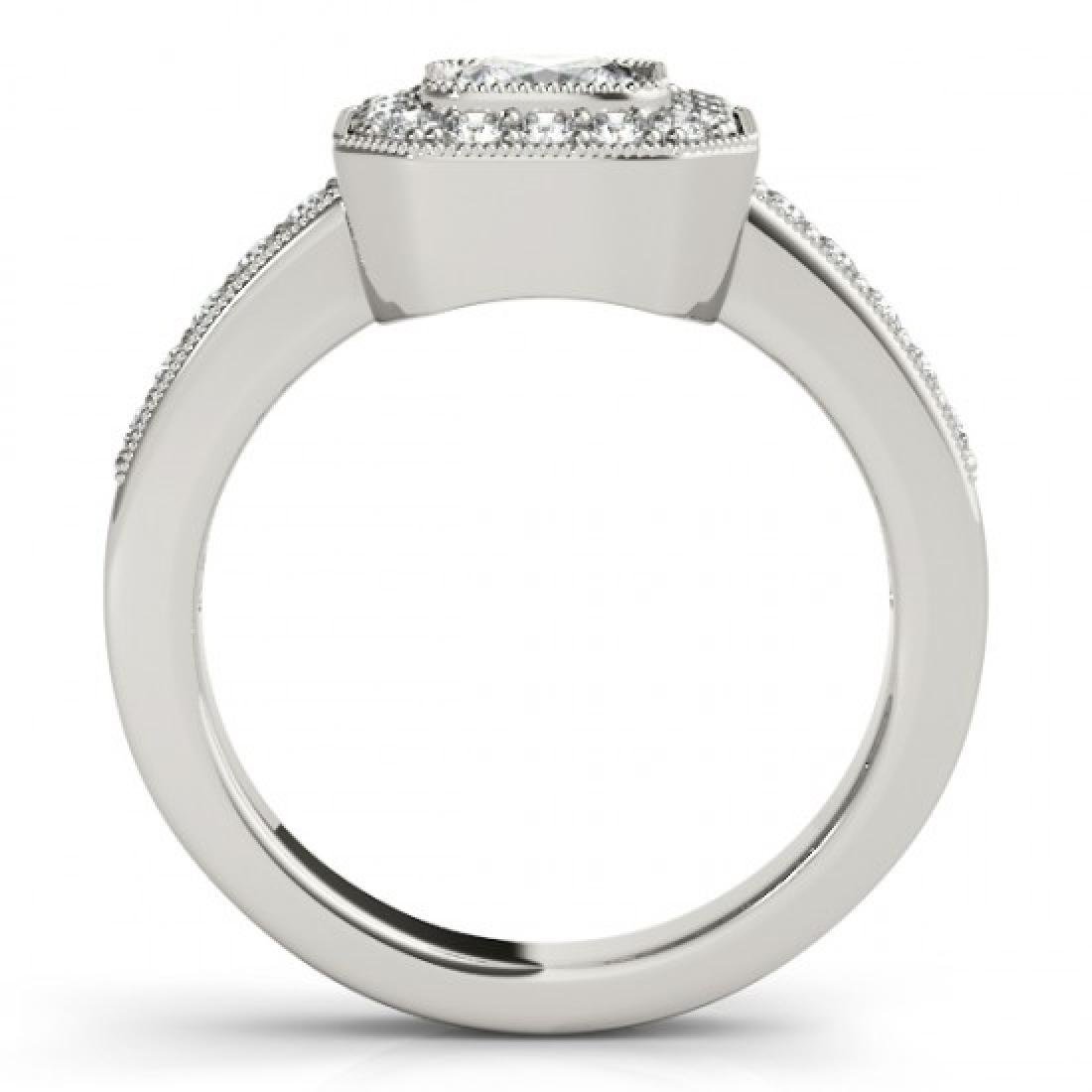 0.8 CTW Certified VS/SI Cushion Diamond Solitaire Halo - 2