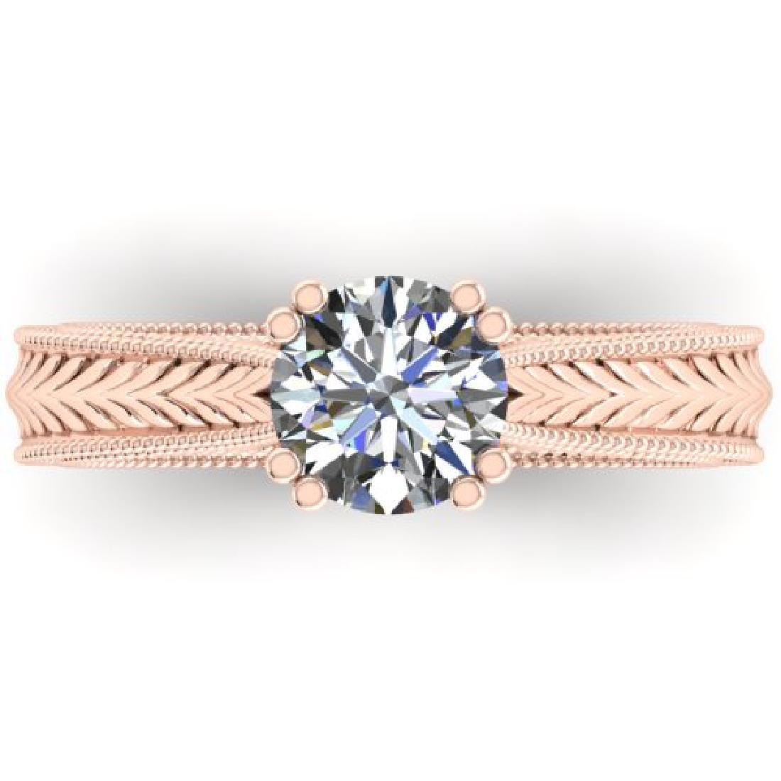 1.06 CTW Solitaire Certified VS/SI Diamond Ring 18K