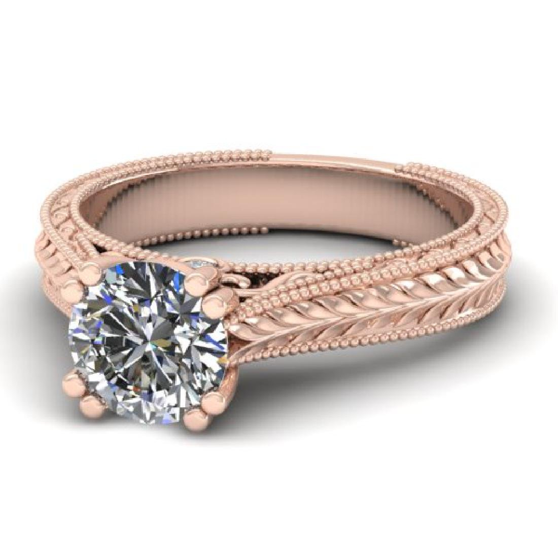 1.06 CTW Solitaire Certified VS/SI Diamond Ring 18K - 2