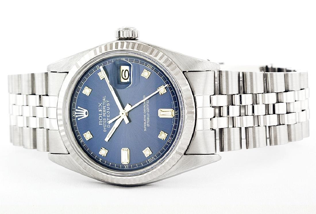 Rolex Men's Stainless Steel, QuickSet, Diamond Dial - 2