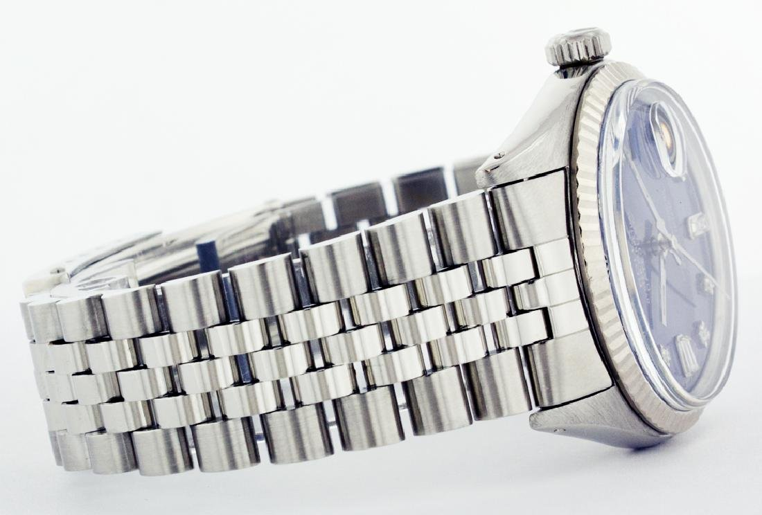 Rolex Men's Stainless Steel, QuickSet, Diamond Dial - 3