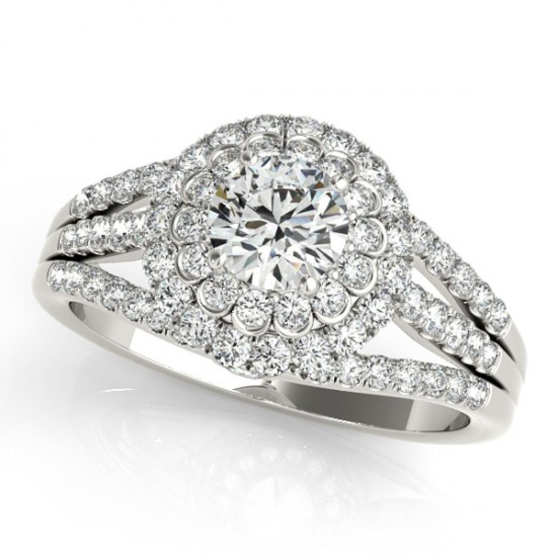 1.25 CTW Certified VS/SI Diamond Solitaire Halo Ring
