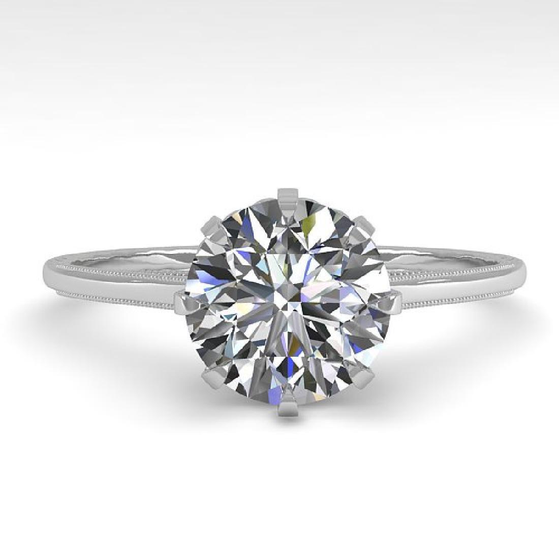 1.51 CTW Certified VS/SI Diamond Ring 14K White Gold