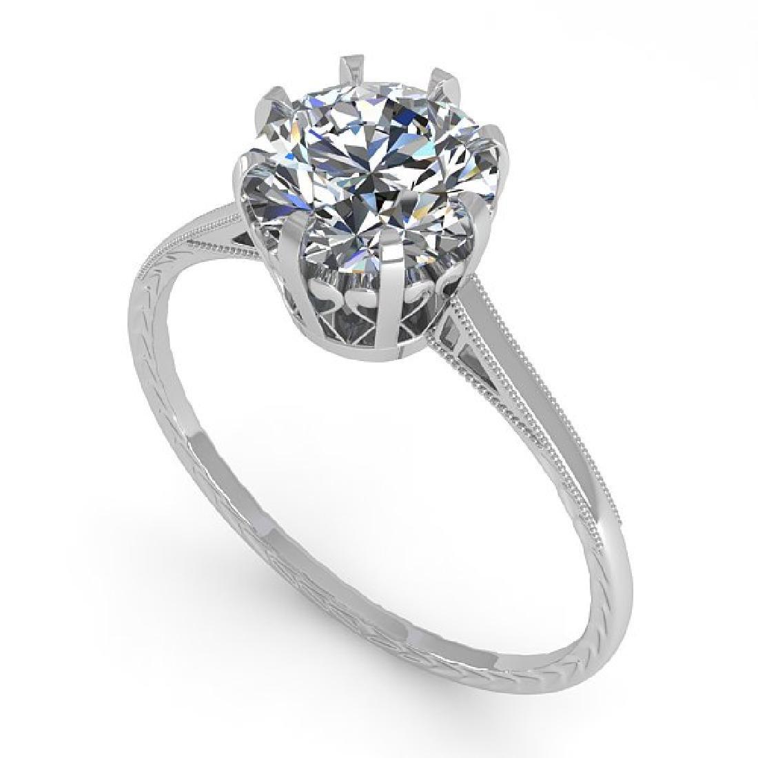 1.51 CTW Certified VS/SI Diamond Ring 14K White Gold - 2