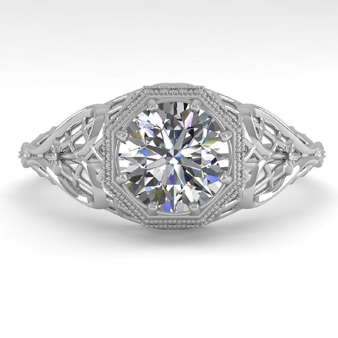 1.01 CTW VS/SI Diamond Solitaire Ring 14K White Gold