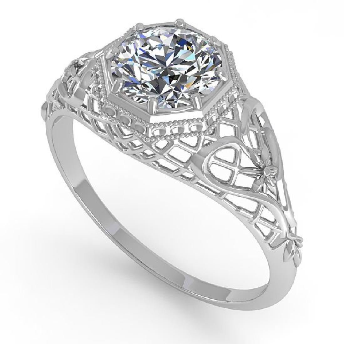 1.01 CTW VS/SI Diamond Solitaire Ring 14K White Gold - 2