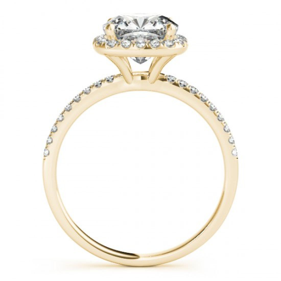 1.33 CTW Certified VS/SI Cushion Diamond Solitaire Halo - 2