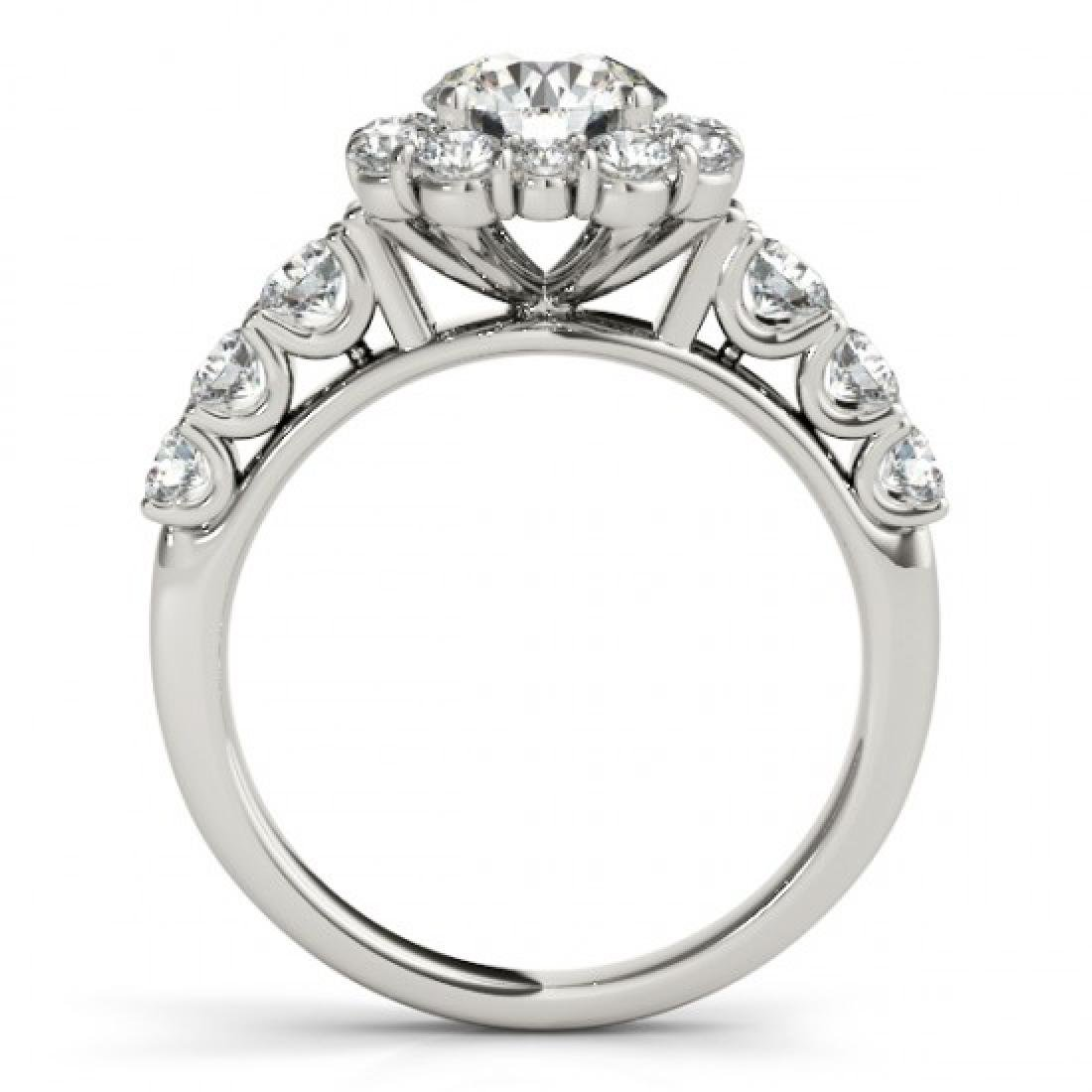 2.9 CTW Certified VS/SI Diamond Solitaire Halo Ring 14K - 2