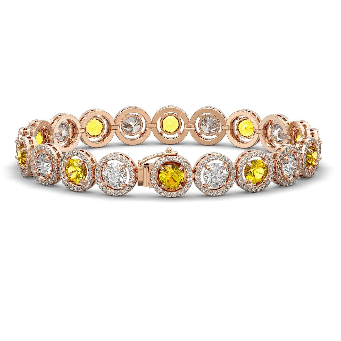 13.76 CTW Canary Yellow & White Diamond Designer - 2