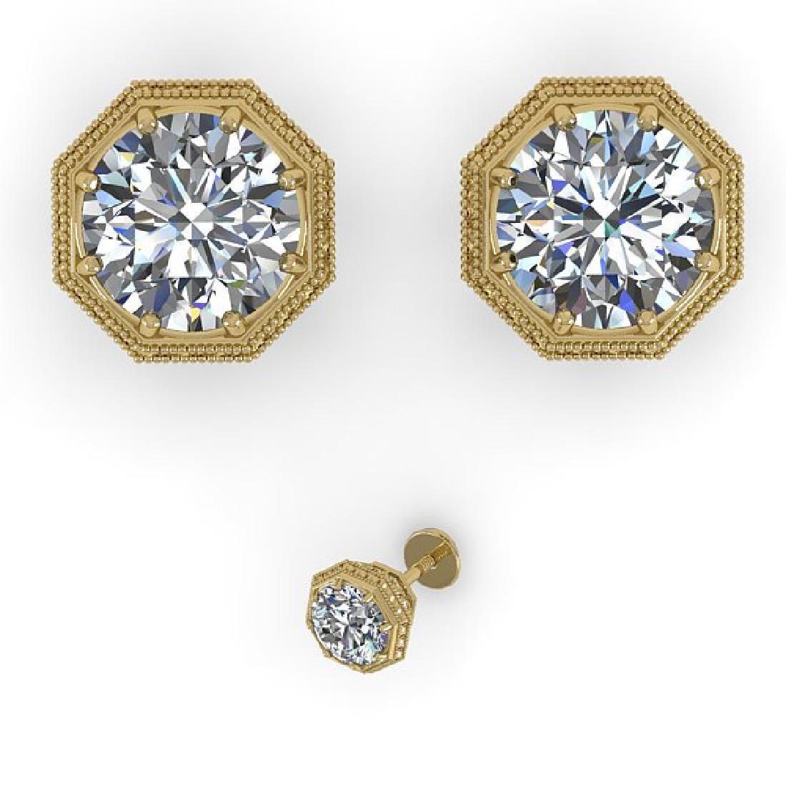 1.53 CTW Certified VS/SI Diamond Stud Earrings 14K - 2
