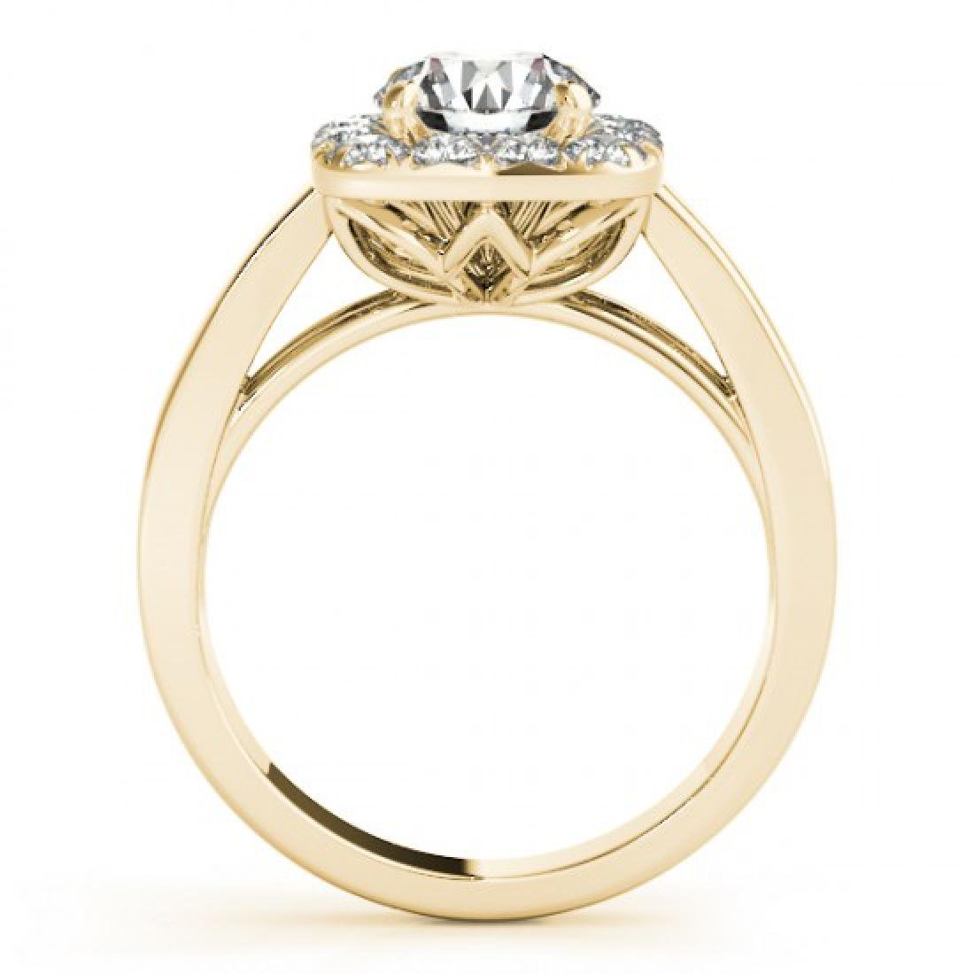1.3 CTW Certified VS/SI Diamond Solitaire Halo Ring 14K - 2